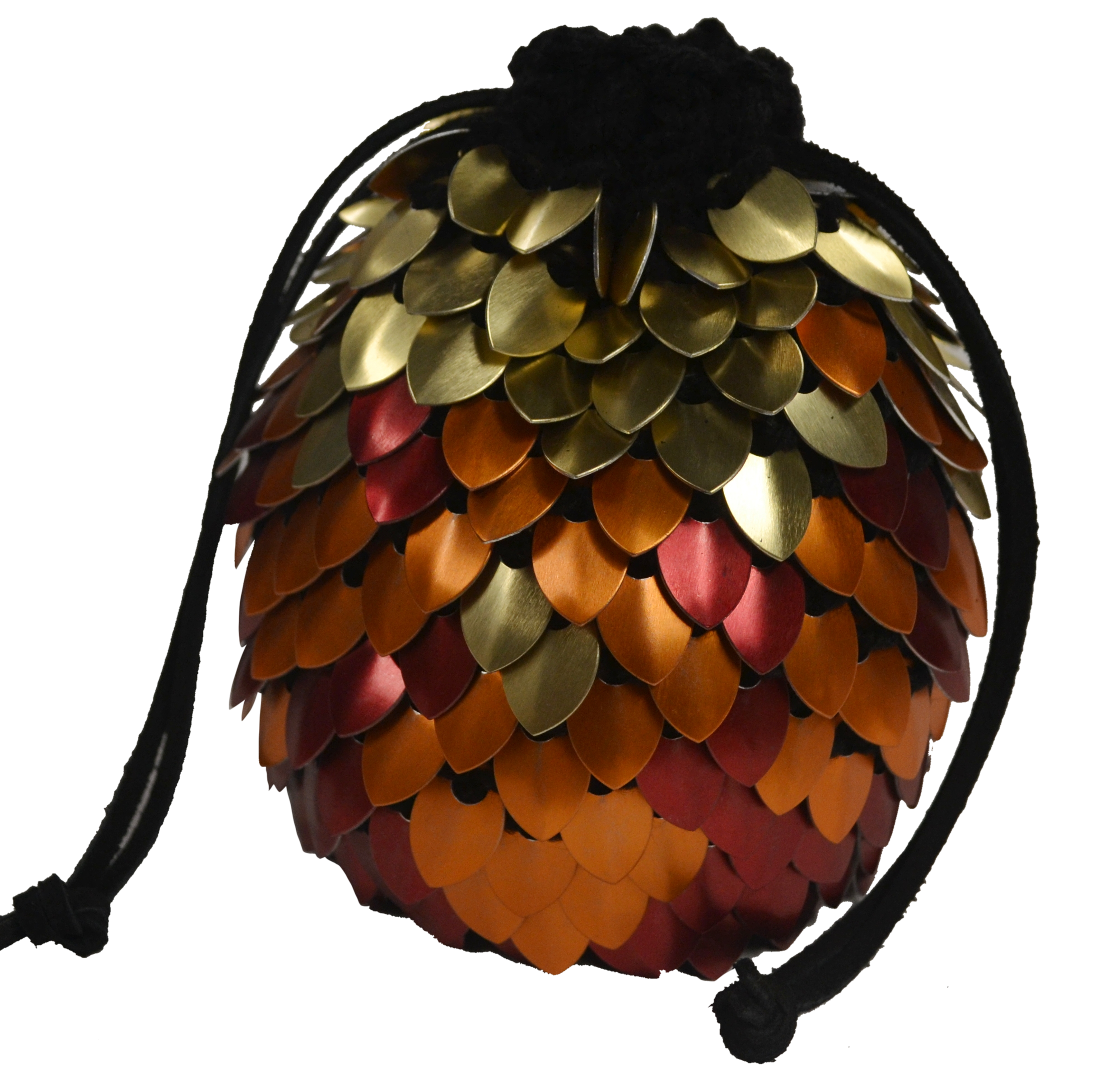 A transparent image of a pheonix pattern dragonhide bag of holding
